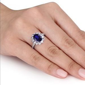 Julie Leah Blue and white sapphire ring